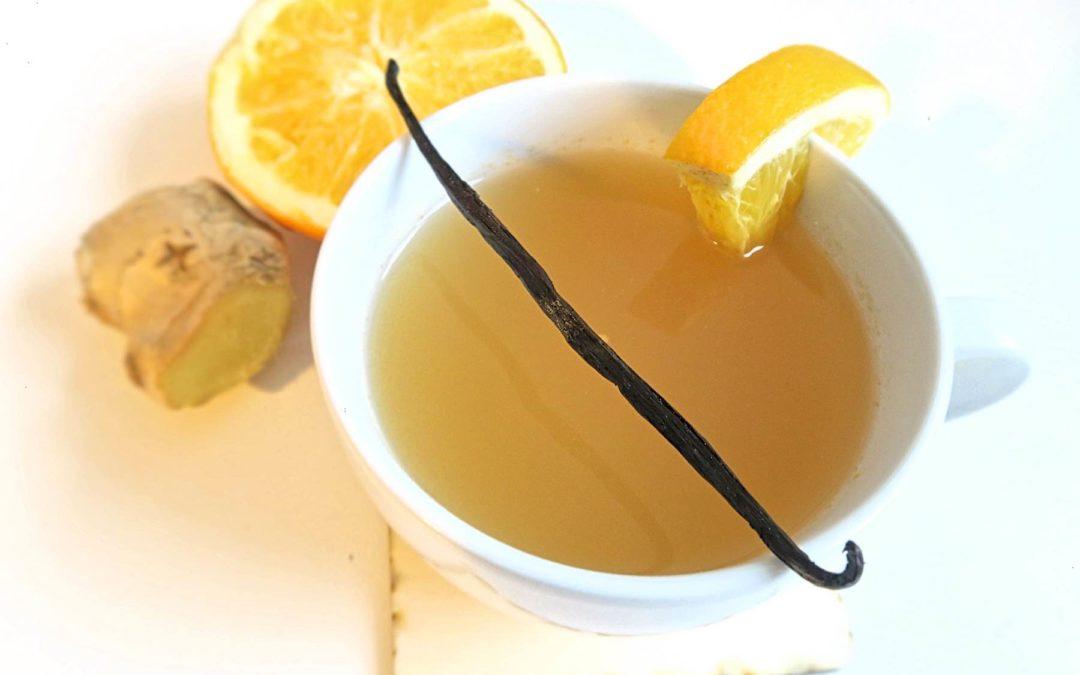Aromatischer Orangen-Glühwein