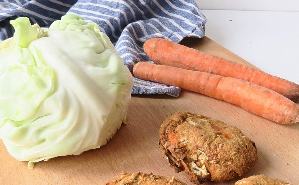 Weißkraut und Karotte