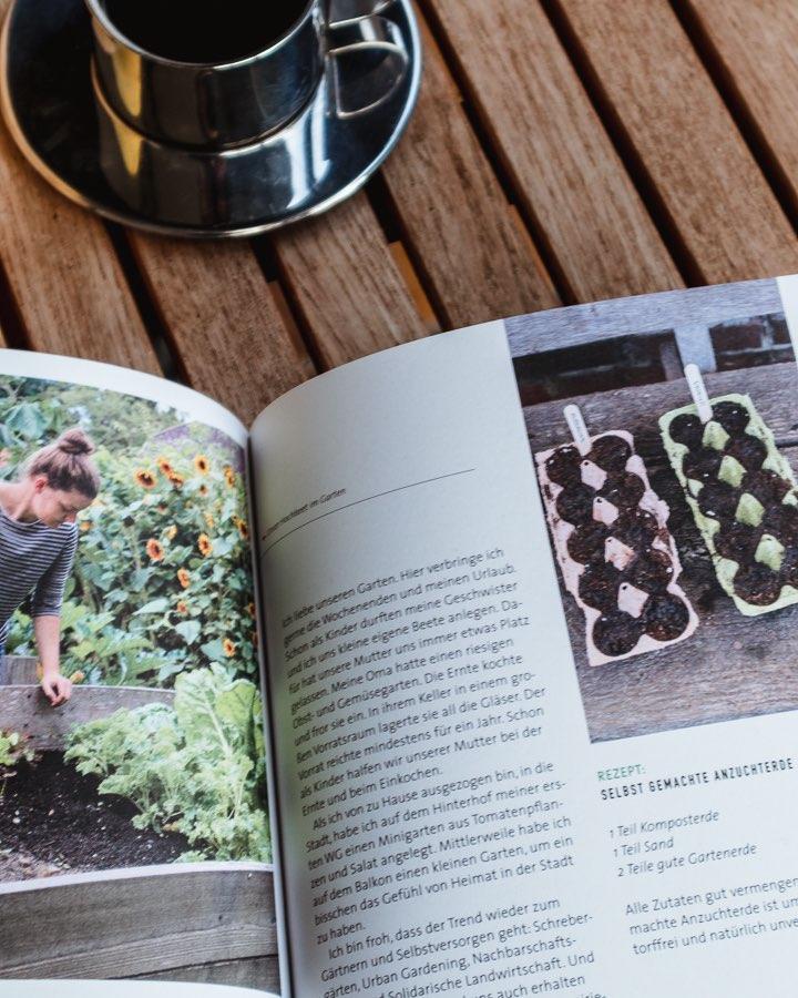 Besser naturbewusst leben – zu sehen ist ein Buchausschnitt, wie man selbst Pflanzen anziehen kann