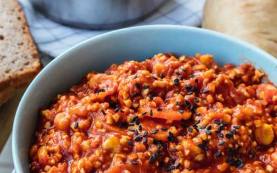 Chili sin Carne: Mildes Chili mit Süßlupinenschrot