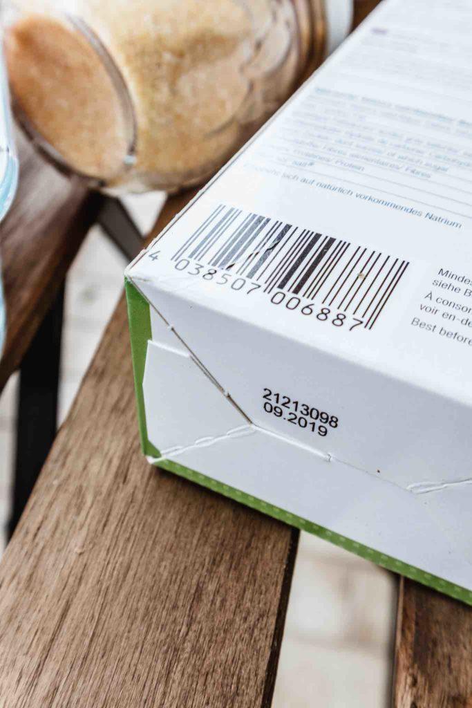 Eine Packung mit angelaufenem Mindesthaltbarkeitsdatum muss nicht weggeworfen werden.