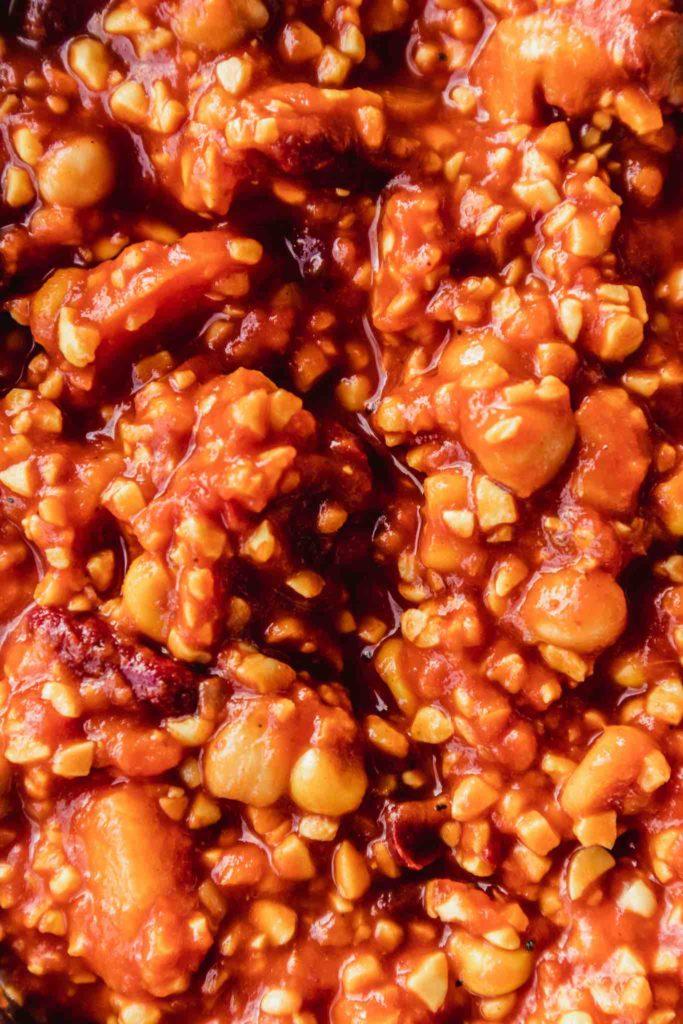 Veganes Chili sin Carne mit viel Protein