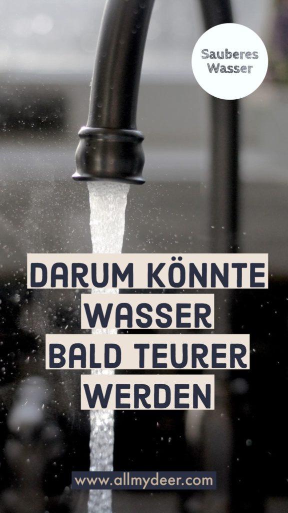 Wasser könnte teurer werden