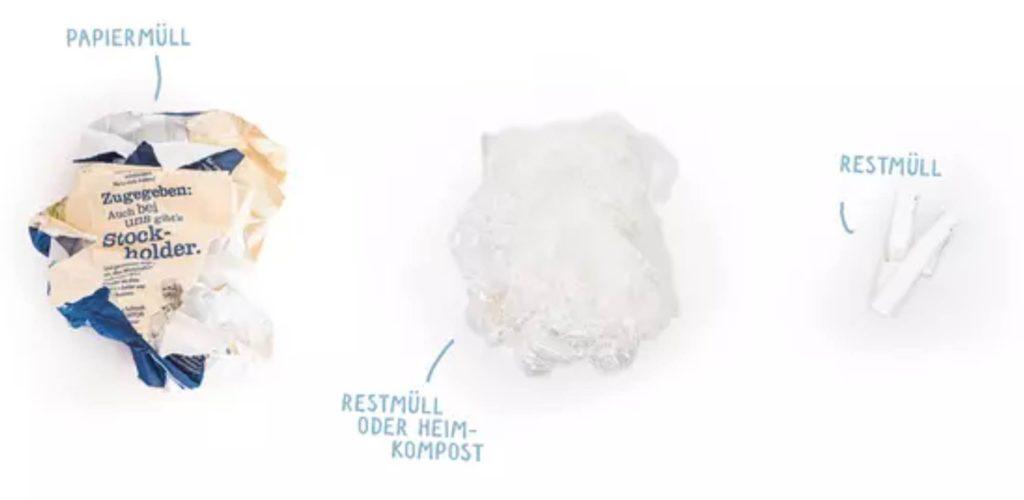 Loser Tee ohne Kunststoff verpackt