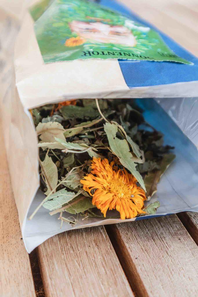 Loser Tee in einer umweltfreundlichen Verpackung