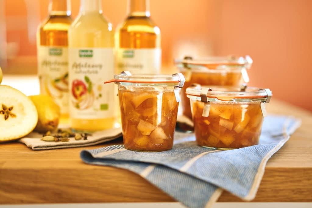 Rezept für Apfel-Birnen-Chutney mit Ingwer
