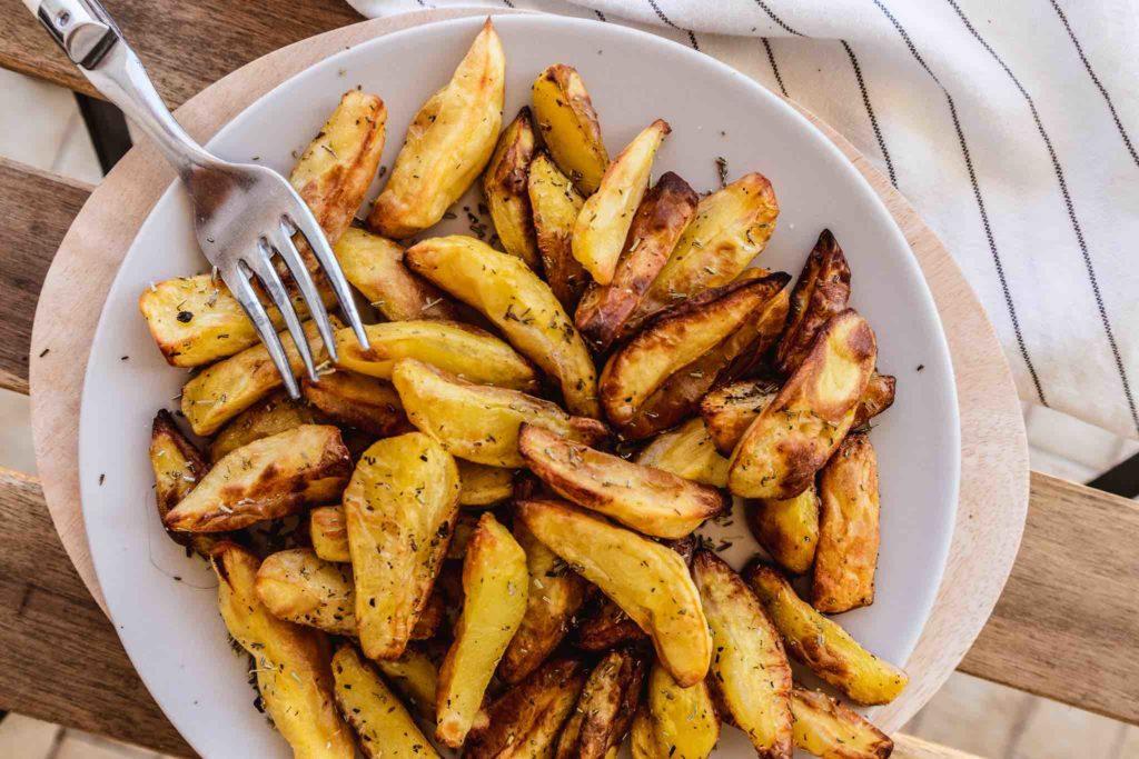 Einfaches Herbst Rezept sind Ofenkartoffeln