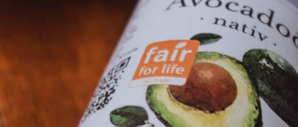 """Avocado Öl mit """"fair-for-life"""" Zertifizierung"""