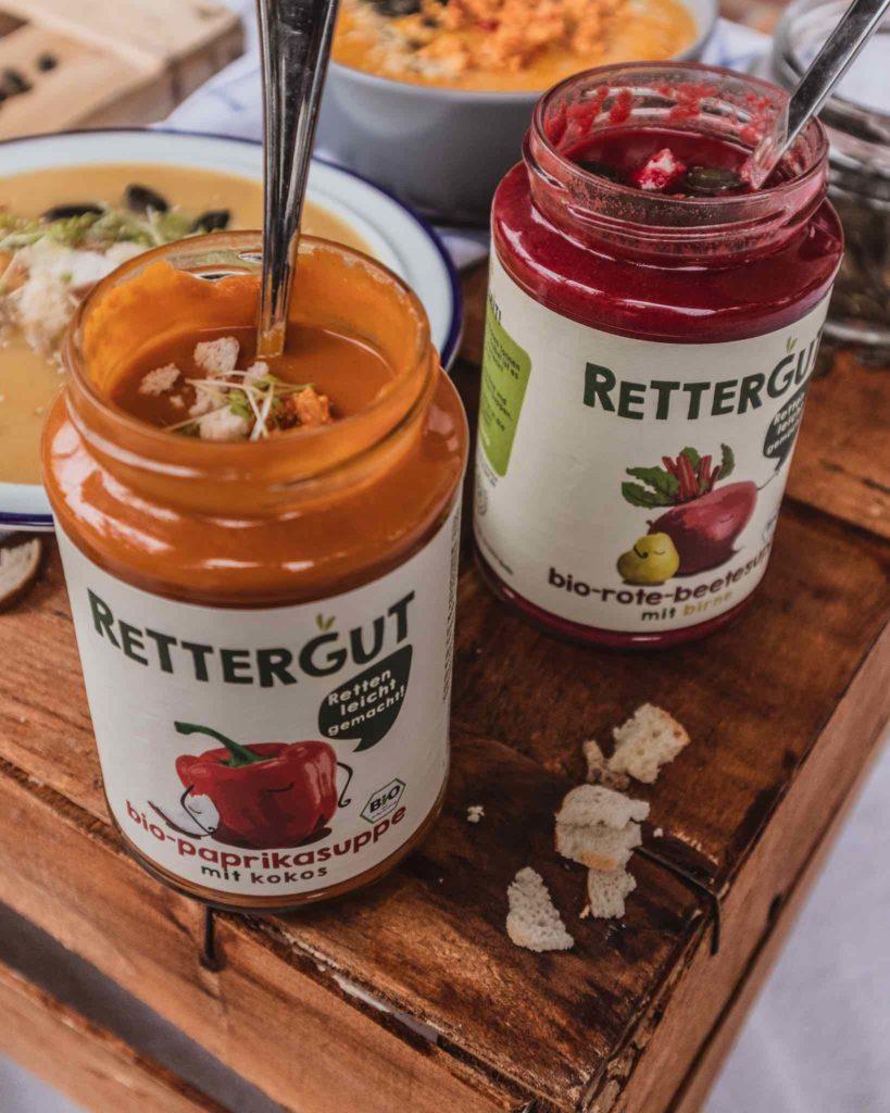 Die Rettergut Suppen schmecken auch direkt aus dem Glas.