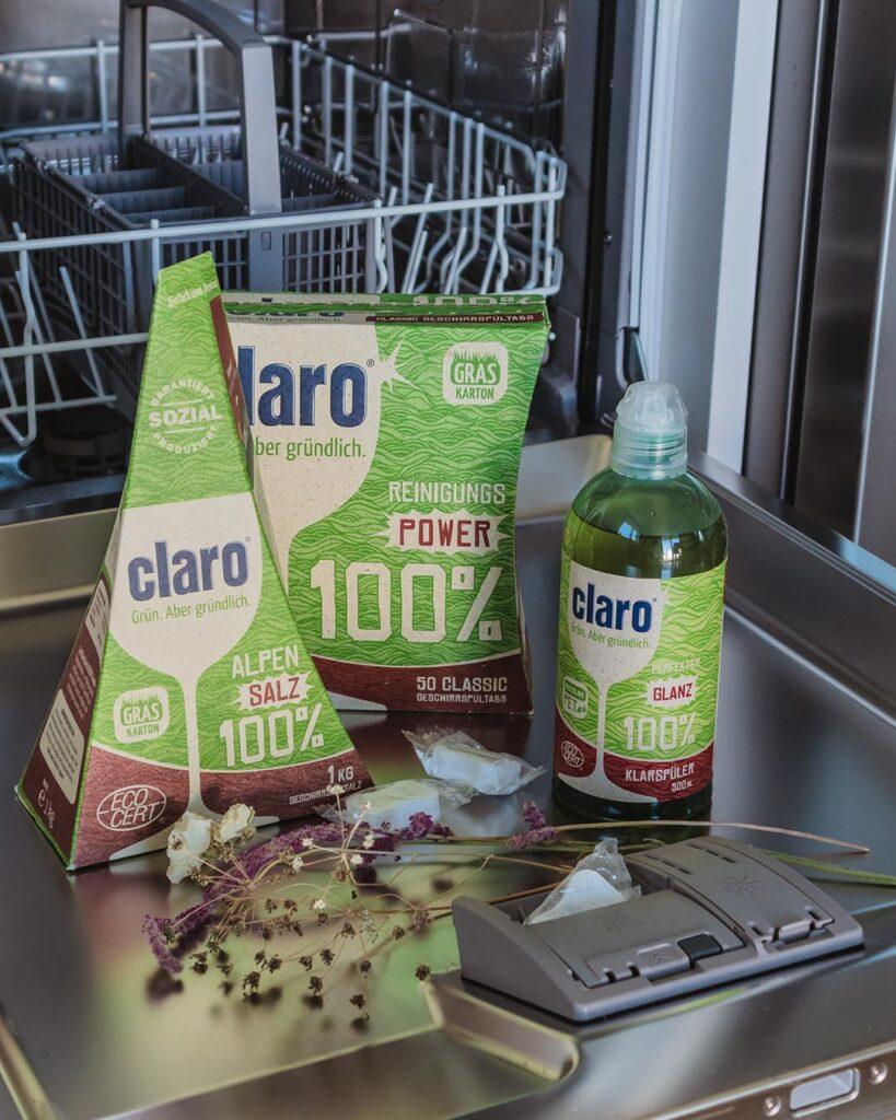 Umweltfreundliche Geschirrspülmittel von Claro, die wirklich funktionieren